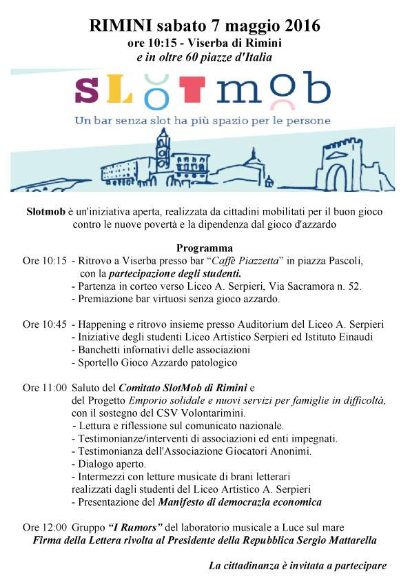 SlotMob 7 maggio Viserba di Rimini