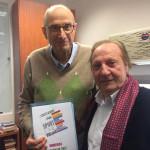 A sinistra Vito Brussolo, presidente Acli provinciali Rimini, a destra Giorgio Gori, presidente provinciale Unione Sportiva Acli Rimini